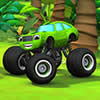 O Monstro Verde Caminhão Quebra-Cabeça