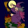 A Bruxa e o Castelo para Colorir