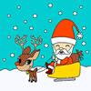 Papai Noel no Trenó Colorir