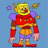 Robô De Espaço Para Colorir
