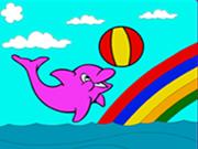 Bonito Dolphin Coloring
