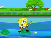 Bob Esponja A Cruzar O Rio