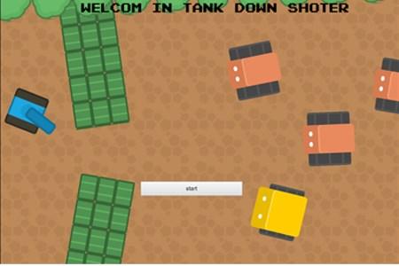 tanque para baixo shoter