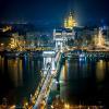 Chain Bridge Em Budapeste, Hungria